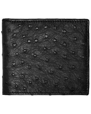Lucchese Men's Black Ostrich Hipster Wallet , Black, hi-res