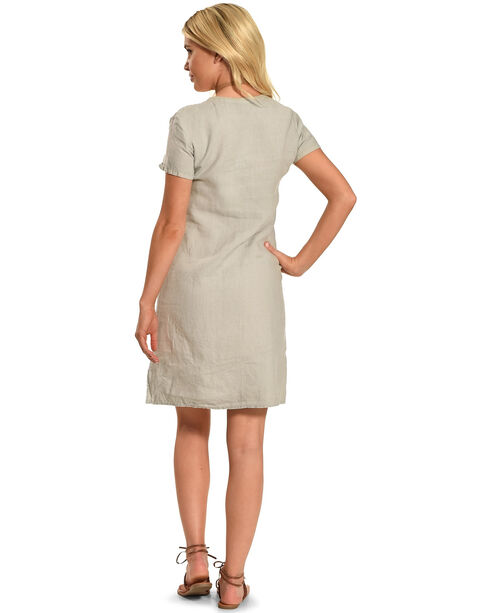 Johnny Was Women's Karlotta Button Down Tunic , Sand, hi-res