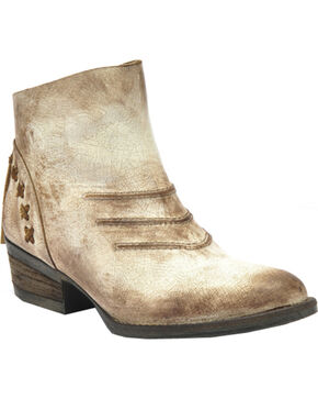 Circle G Burnished Taupe Short Boots - Round Toe, Taupe, hi-res