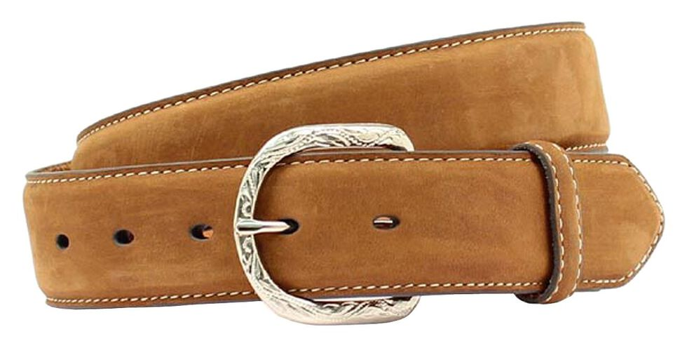 Nocona Leather Belt, Med Brown, hi-res