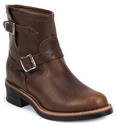 Chippewa Men's Renegade Engineer Boots - Round Toe, Tan, hi-res