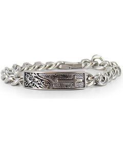 Cody James Men's Silver Cross Bracelet , Silver, hi-res