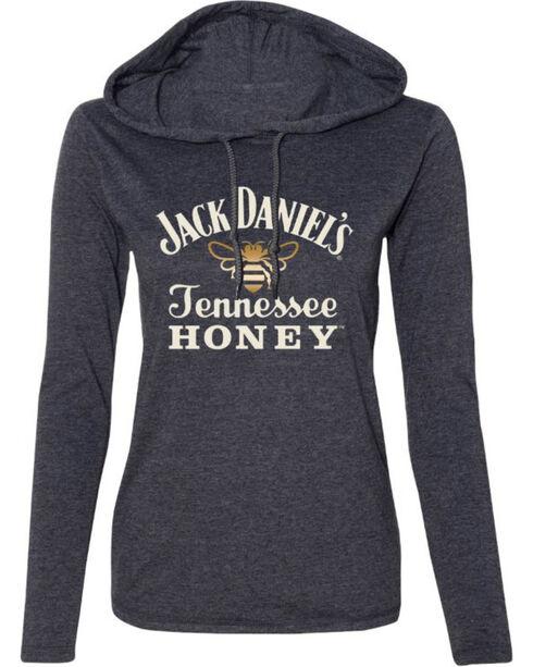 Jack Daniel's Women's Honey T-Shirt Hoodie , Heather Grey, hi-res