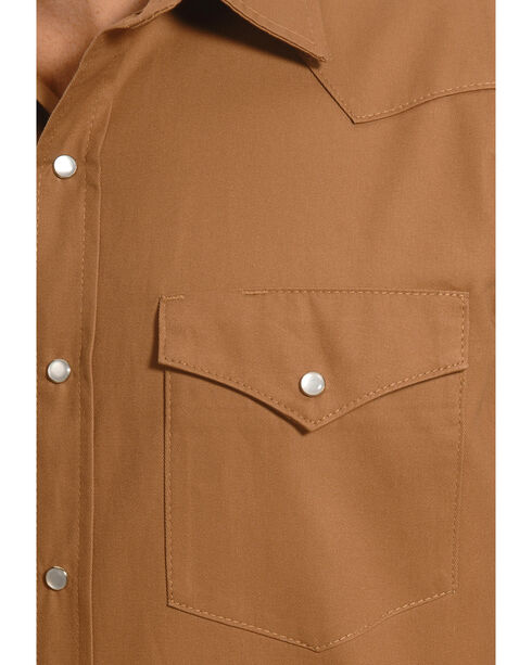 Crazy Cowboy Men's Tan Western Work Shirt , Tan, hi-res
