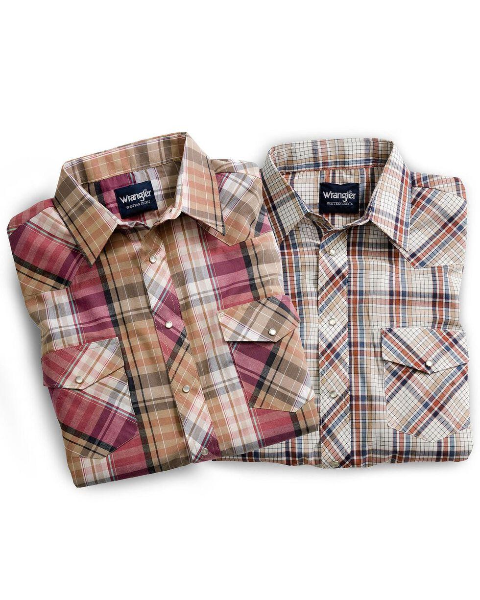 Wrangler Assorted Long Sleeve Western Shirt - Big, Plaid, hi-res