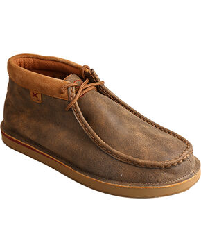 Twisted X Men's Bomber Casual Loafers - Moc Toe, Brown, hi-res