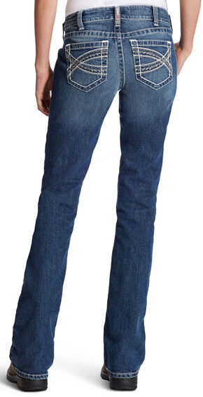 Ariat Women's Entwined R.E.A.L. Mid-Rise Riding Jeans, Indigo, hi-res