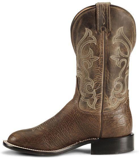 """Tony Lama 11"""" Cognac Conquistador Shoulder Boots - Round Toe, Cognac, hi-res"""