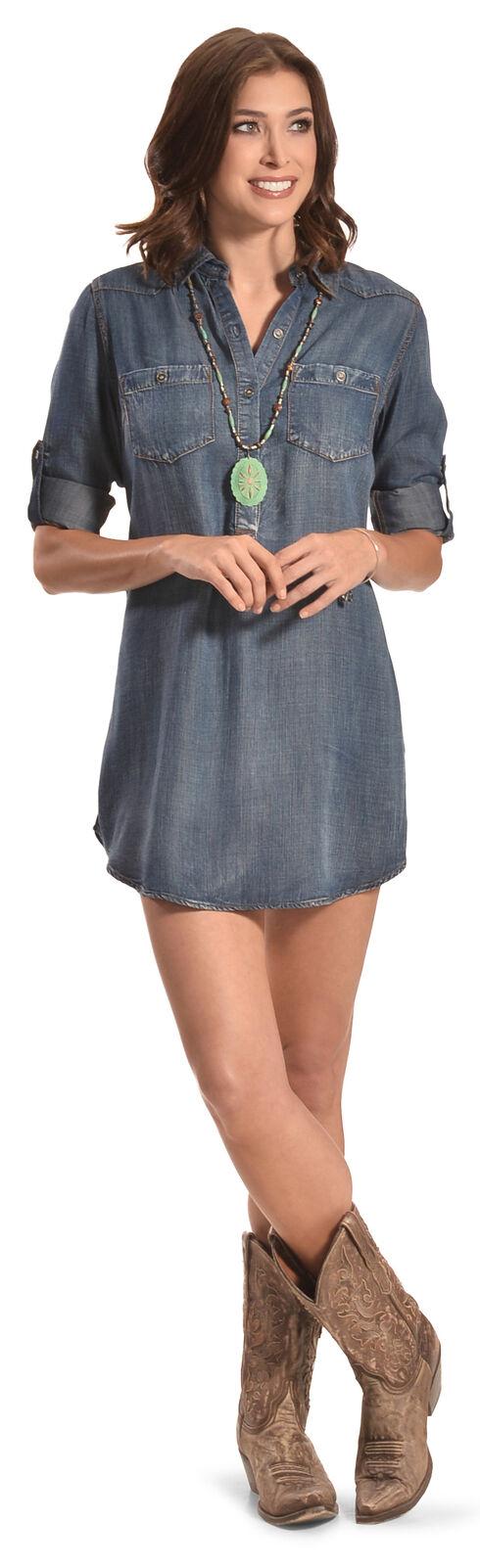 Cowgirl Justice Women's Durango Tencel Denim Tunic Dress, Denim, hi-res