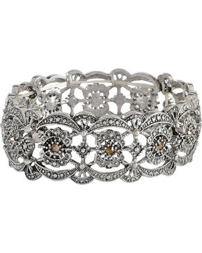 Shyanne Women's Scalloped Bracelet , Silver, hi-res