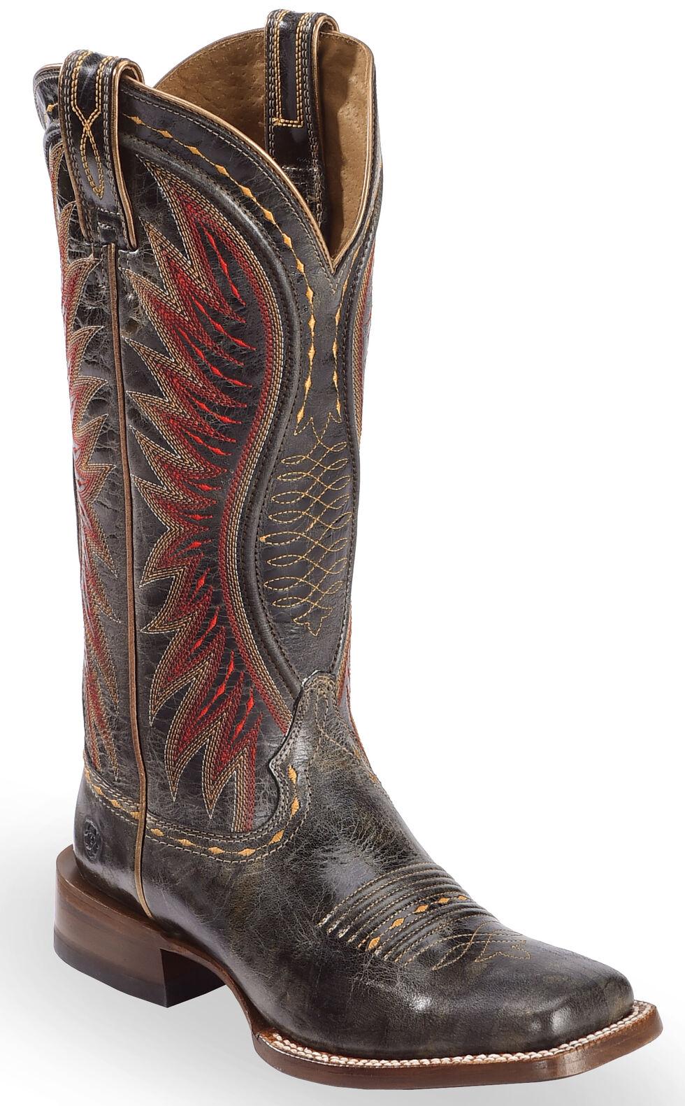 Ariat Black Vaquera Cowgirl Boots - Square Toe , Black, hi-res