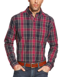Ariat Men's Plaid Pro Series Slate Performance Shirt, Multi, hi-res