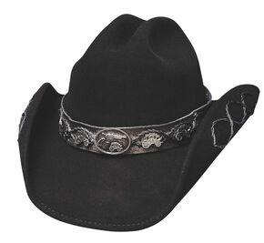 Bullhide Jesse Black Wool Cowboy Hat, Black, hi-res