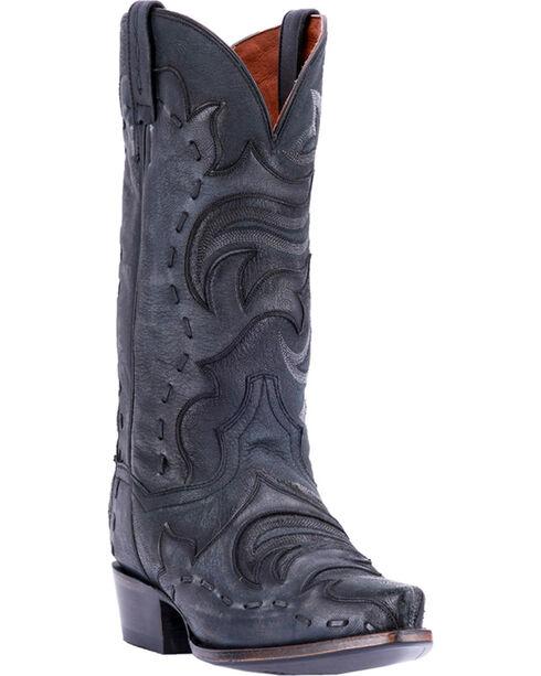 Dan Post Men's Black Hensley Western Boots - Snip Toe , Black, hi-res