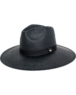 Peter Grimm Women's Alexa Straw Hat , Black, hi-res