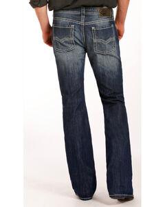Rock & Roll Cowboy Men's Indigo Pistol Embroidered Jeans - Boot Cut , Indigo, hi-res