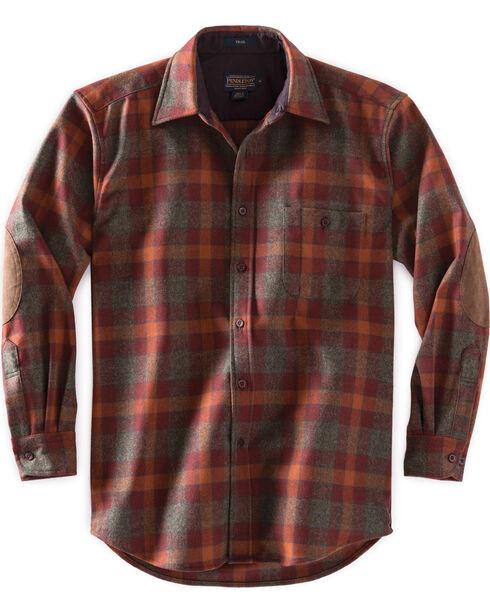 Pendleton Men's Green Mix Check Trail Shirt , Green, hi-res