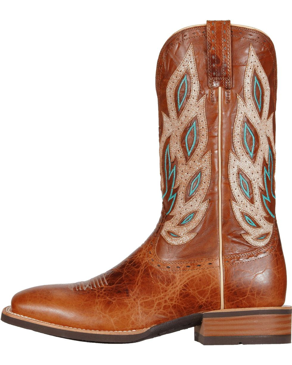 Ariat Nighthawk Western Cowboy Boots - Square Toe, Brown, hi-res