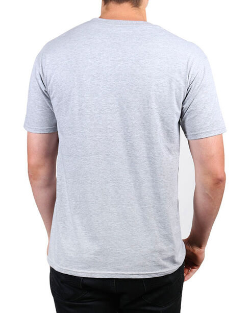 Brothers & Arms Men's Grey Feel The Freedom T-Shirt , Heather Grey, hi-res