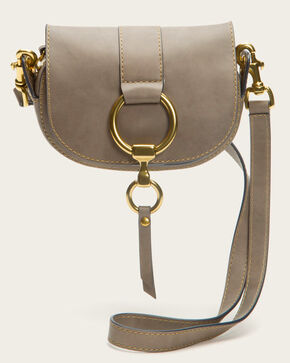 Frye Women's Ilana Harness Mini Saddle Bag, Grey, hi-res