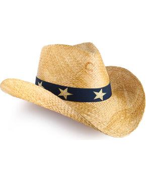 Charlie 1 Horse Women's Flag Fashion Straw Hat, Natural, hi-res