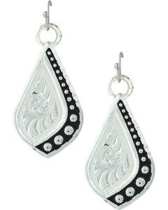 Montana Silversmiths Women's Silver The Path I Take Earrings , Silver, hi-res