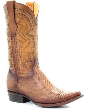 Corral Men's Sand Lizard Cowboy Boots - Snip Toe, Sand, hi-res