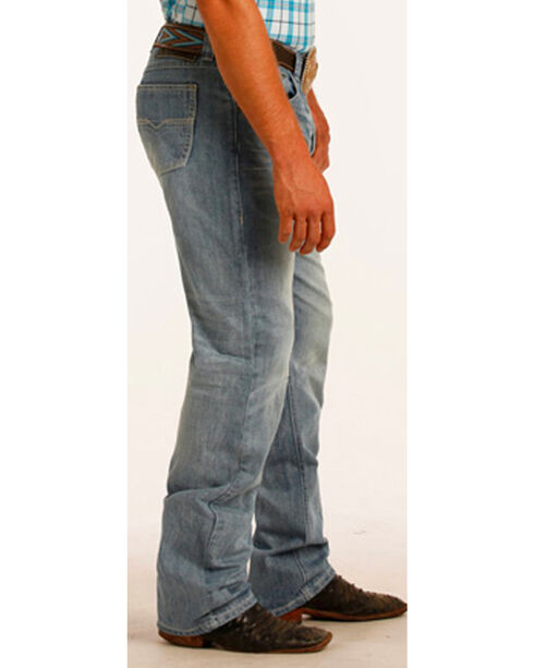 Tuf Cooper Performance by Rock & Roll Denim Competition Fit Small V Jeans - Straight Leg, Blue, hi-res