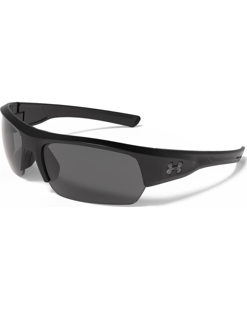 Under Armour Men's Satin Black UA Big Shot Sunglasses , Black, hi-res