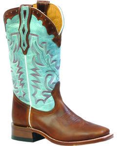 Boulet Damiana Moka Organza Dezy Cowgirl Boots - Square Toe, Mocha, hi-res