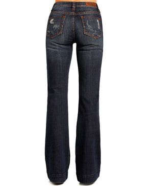Rock & Roll Cowgirl Women's Indigo High Rise Trouser Jeans - Flare, Indigo, hi-res