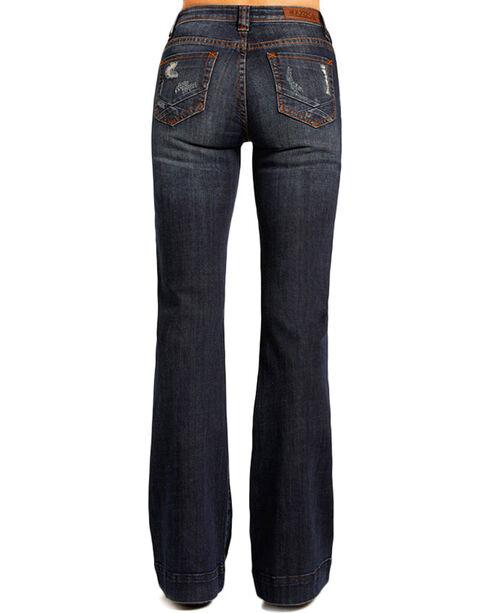 Rock & Roll Cowgirl Women's Indigo High Rise Trouser Jeans - Flare, Indigo, hi-res