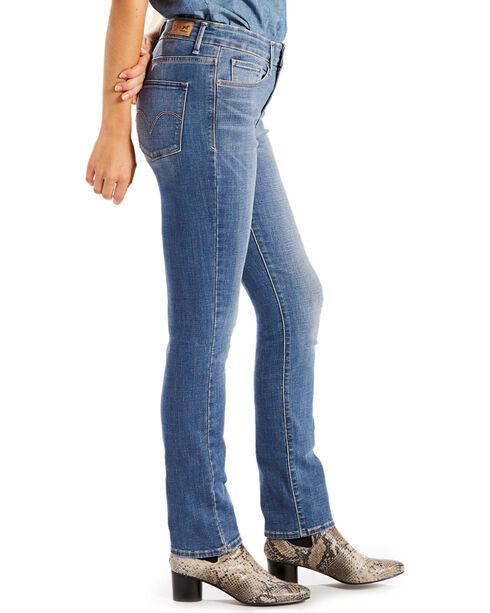 Levi's Women's 711 Blue Mid-Rise Slim Fit Jeans - Skinny, Blue, hi-res