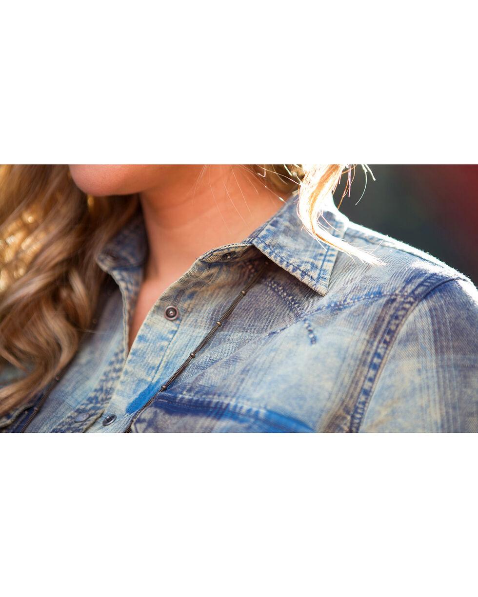 Ryan Michael Women's Hemlock Buffalo Plaid Shirt , Blue, hi-res