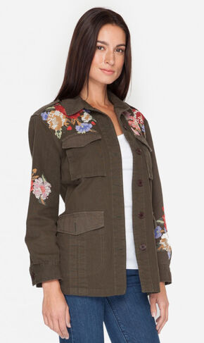 Johnny Was Women's Olive Cecily Military Coat, Olive, hi-res