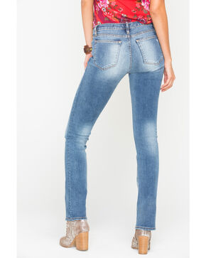 Miss Me Women's So Torn Mid-Rise Slim Boot Cut Jeans , Indigo, hi-res