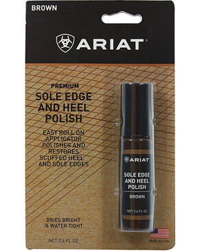 Ariat Boot Care Sole Edge and Heel Polish, Brown, hi-res