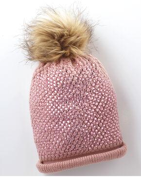 Shyanne Women's Sparkle Plenty Pompom Beanie - Pink, Pink, hi-res