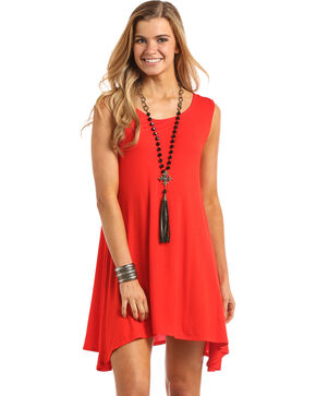 Panhandle Women's Knit Tank Dress, Red, hi-res