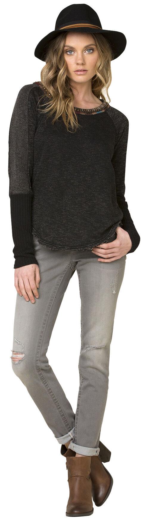 Miss Me Women's Black World Traveler Sweater, Black, hi-res