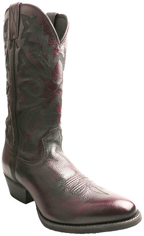 Twisted X Men's Burgundy Western Cowboy Boots - Round Toe, Burgundy, hi-res
