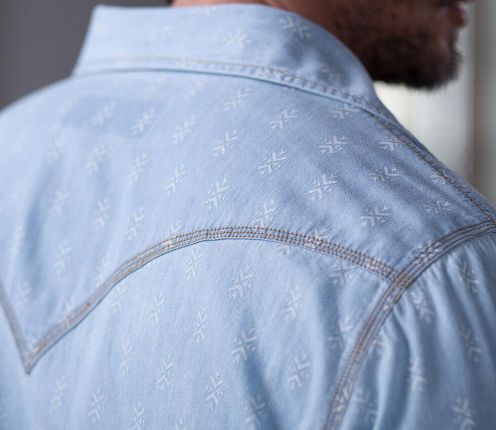 Ryan Michael Men's Chambray Indigo Print Shirt, Indigo, hi-res