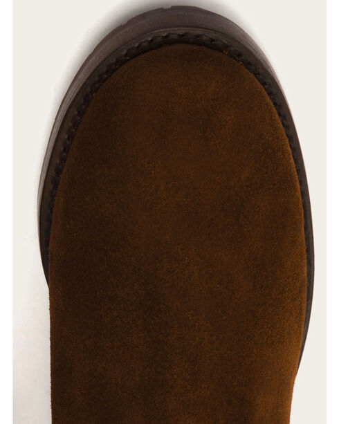 Frye Women's Brown Suede Natalie Mid Engineer Boots, Brown, hi-res