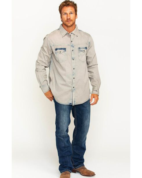 Ryan Michael Men's Indigo Tinted Shirt , Indigo, hi-res