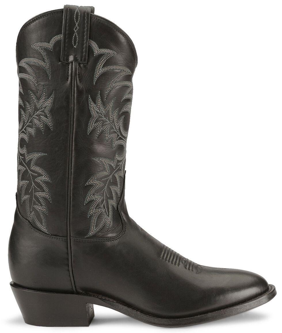 Tony Lama Black Stallion Americana Cowboy Boots - Medium Toe, Black, hi-res
