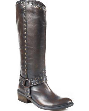 """Roper 15"""" Miranda Riding Boots, Dark Brown, hi-res"""