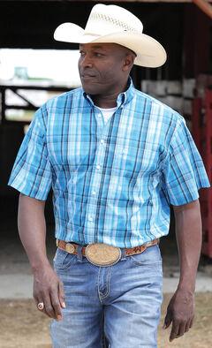 Cinch Men's Blue Tri-Blend Short Sleeve Shirt , , hi-res