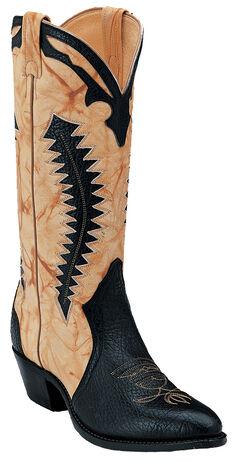 Boulet Black and Butterscotch Shoulder Boots - Medium Toe, , hi-res