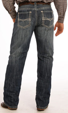 Tuf Cooper Performance Dark Vintage Competition Fit Jeans - Straight Leg , Indigo, hi-res