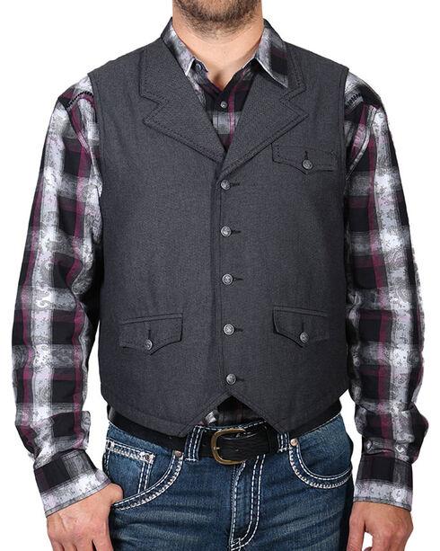 Moonshine Spirit Men's Button Thru Vest, Grey, hi-res